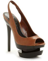 Jessica Simpson Cinna Peep Toe Platform Pumps - Lyst