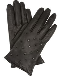 Mulberry   Gems Studded Leather Gloves   Lyst