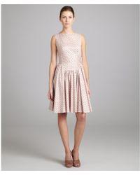 Prada Pink Cotton Pleated Wrap Tie Sleeveless Dress - Lyst