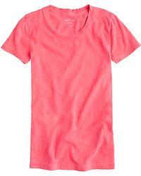 J.Crew Vintage Cotton Tee pink - Lyst