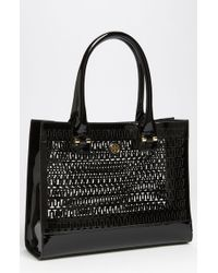 Tory Burch Mini Georgiana Perforated Tote - Lyst