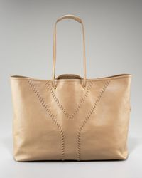 Saint Laurent Reversible Whipstitched Tote - Lyst