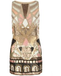 AllSaints Embellished Pipali Dress - Lyst