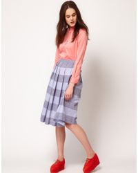 Boutique by Jaeger - Lucy Stripe Midi Skirt - Lyst