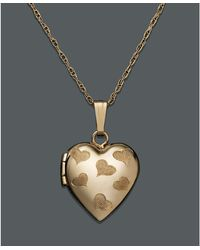 Eci Engraved Heart Locket Pendant - Lyst