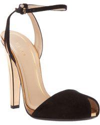 Gucci Peep Toe Sandal black - Lyst