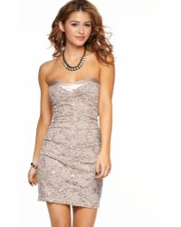 Jump Strapless Lace Sequin Dress - Lyst