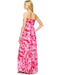 Michael Kors Printed Silk Maxi Dress - Lyst