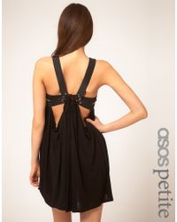 ASOS Collection Asos Petite Exclusive Dress with Draping - Lyst