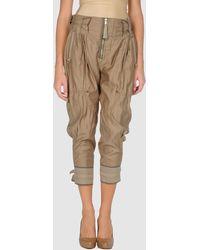High 3/4 Length Trousers - Lyst