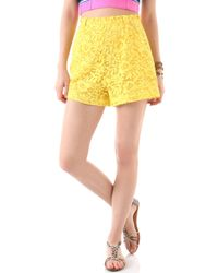 Miguelina - Jenna Rose Lace Shorts - Lyst