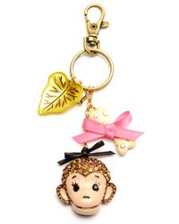 Betsey Johnson Monkey Key Chain - Lyst