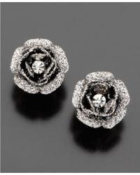 Betsey Johnson Rose Bud Stud Earrings pink - Lyst