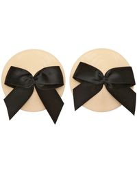 Bordelle Patent Leather Bow Nipplets Underwear - Lyst