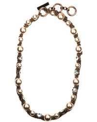 Givenchy Glass Pearl and Crystal Collar Necklace - Lyst