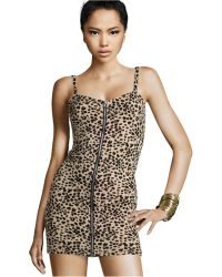 H&M Leopard Dress - Lyst