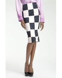 Kelly Wearstler Cube Batik Print Pencil Skirt white - Lyst