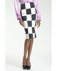 Kelly Wearstler Cube Batik Print Pencil Skirt - Lyst