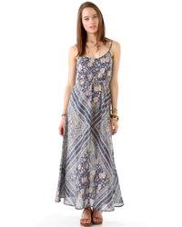 Beyond Vintage - Block Print Maxi Dress - Lyst