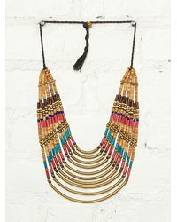 Free People Vintage Stone Metal Necklace - Lyst