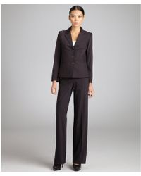 Céline - Brown Wool Blend Three Button Suit with Wide Leg Pants - Lyst