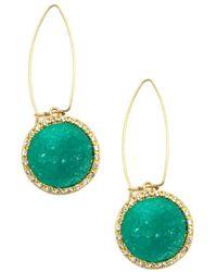 Rachel Roy | Green Druzy Drop Earrings | Lyst