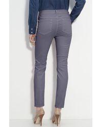 Blue Essence Skinny Twill Ankle Jeans - Lyst