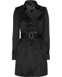 Burberry Prorsum - Midlength Cottonsateen Trench Coat - Lyst