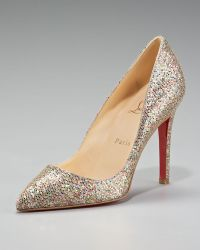 Christian Louboutin Pigalle Glittered Pointed-toe Pump - Lyst