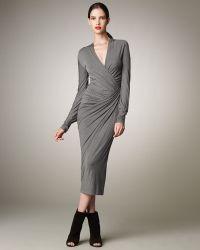 Donna Karan New York Twisted Jersey Dress - Lyst