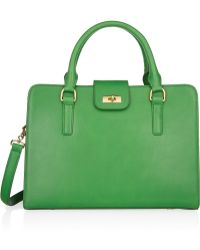 J.Crew Edie Attaché Leather Tote - Lyst