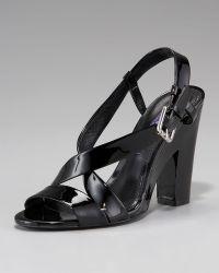 Ralph Lauren Nakita Patent Sandal - Lyst