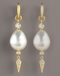 Assael - Dangle Pearl Earrings - Lyst