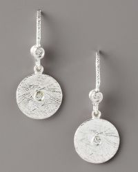 Dominique Cohen - Textured Diamond Disc Earrings - Lyst