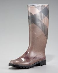 Burberry Exploded-check Rain Boot - Lyst