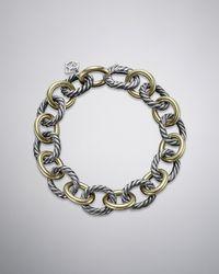 David Yurman - Large Oval Link Chain Bracelet - Lyst