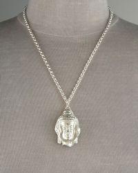 Dominique Cohen - Buddha Pendant Necklace - Lyst