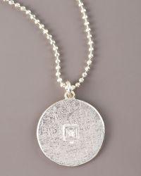 Dominique Cohen - Square Diamond Solitaire Pave Disc Necklace - Lyst
