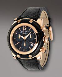 Glam Rock | 46mm Miami Chronograph Watch, Black | Lyst
