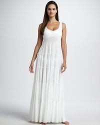 Jean Paul Gaultier Tiered Cover-up Maxi Dress - Lyst