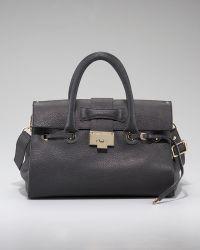 Jimmy Choo Rosalie Pebble Leather Satchel - Lyst