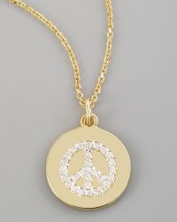 Kc Designs Diamond Peace Necklace gold - Lyst