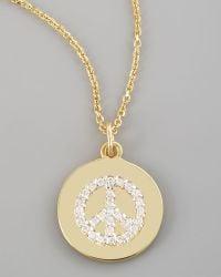 Kc Designs Diamond Peace Necklace - Lyst