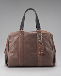 Olivia Harris - Colorblock Leather Satchel - Lyst