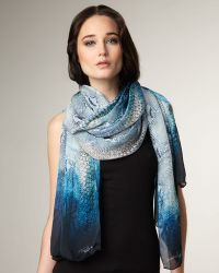 Roberto Cavalli Python-print Silk Stole - Lyst