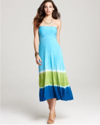 Lucky Brand Caribbean Crush Tie Dye Tube Skirt Dress - Lyst