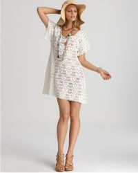 Nanette Lepore Crochet Short Dress Cover Up - Lyst