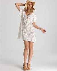 Nanette Lepore Crochet Short Dress Cover Up - Lyst