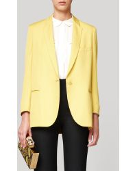 Stella McCartney Golden Syrup Dry Slub Suiting Michelle Jacket - Lyst