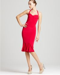 Zac Posen Dress Halter with Fitted Skirt - Lyst
